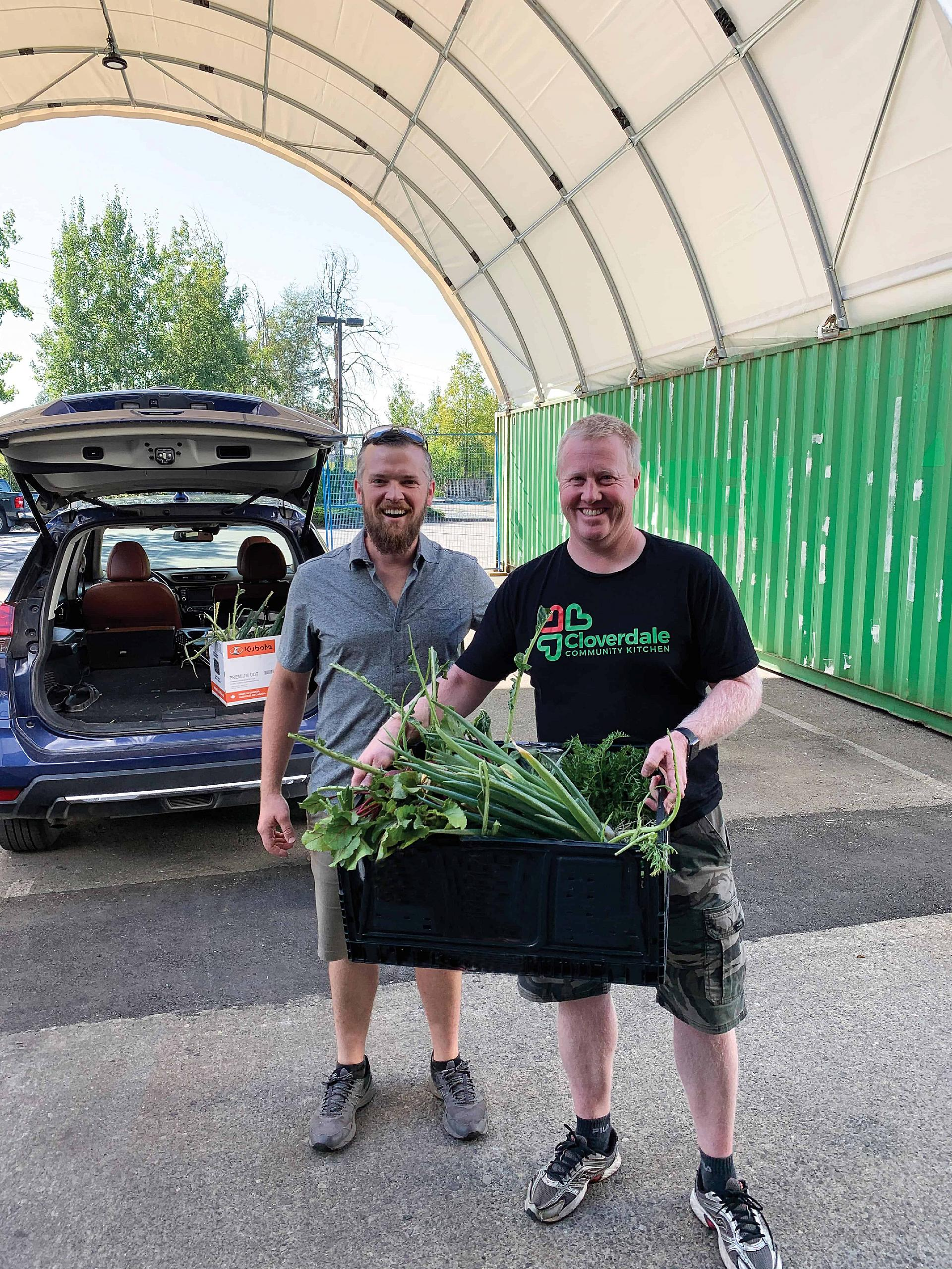 Sustainable Cemetery Heritage Gardens donate to Cloverdale Foodbank